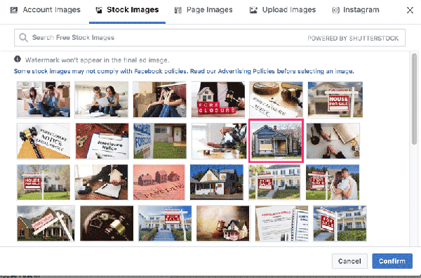 Facebook Ad Interface Stock Images