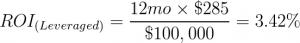 Leveraged ROI Example