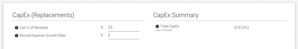 CapEx 23% Reserves Holdback