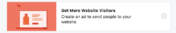 Facebook Ad for Motivated Seller Leads: Get more website visitors goal