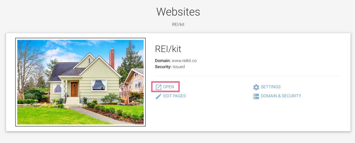 How to find your REIkit website url