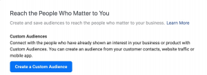 custome audience