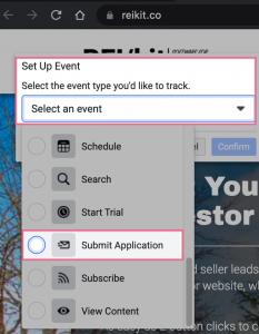 facebook-retargeting-pixel-select-event